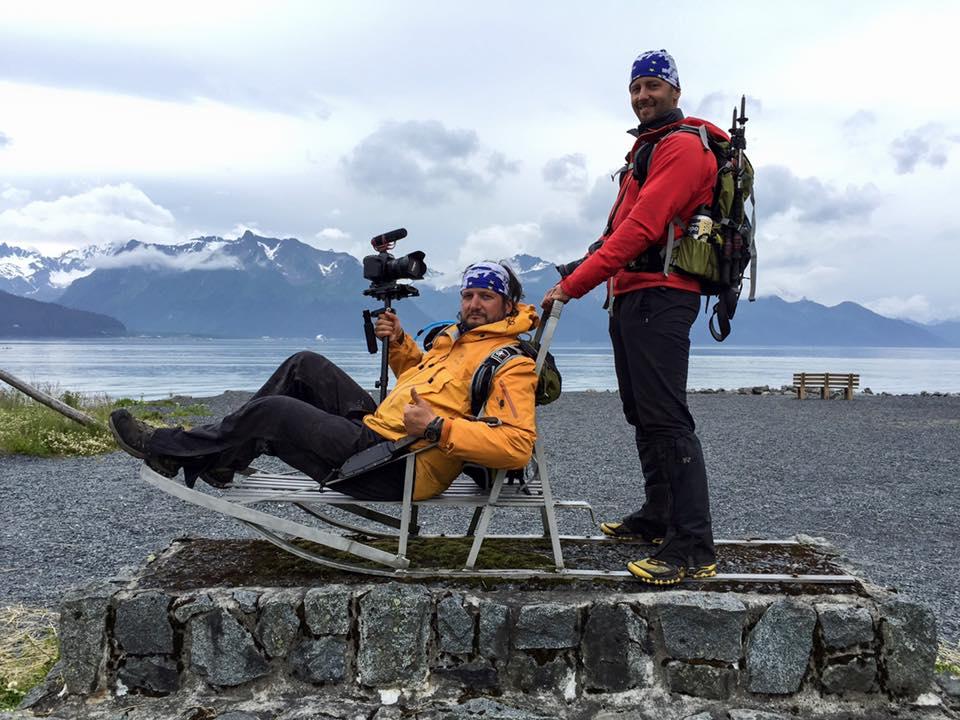 Den legendariske AR-filmaren Erik Nachtrieb till vänster. ExpAk-fotografen Chris Radcliff till höger.