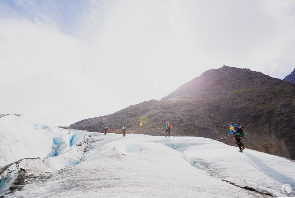 Starten på glaciärsträckan aka den oändliga vandringen. Foto: Kaori Photo.