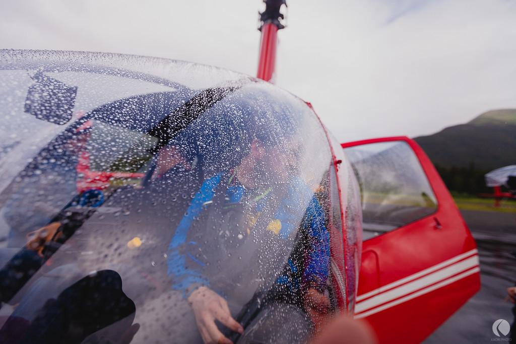 Helikoptern gick varm, så att säga. Foto: Chris Radcliff.