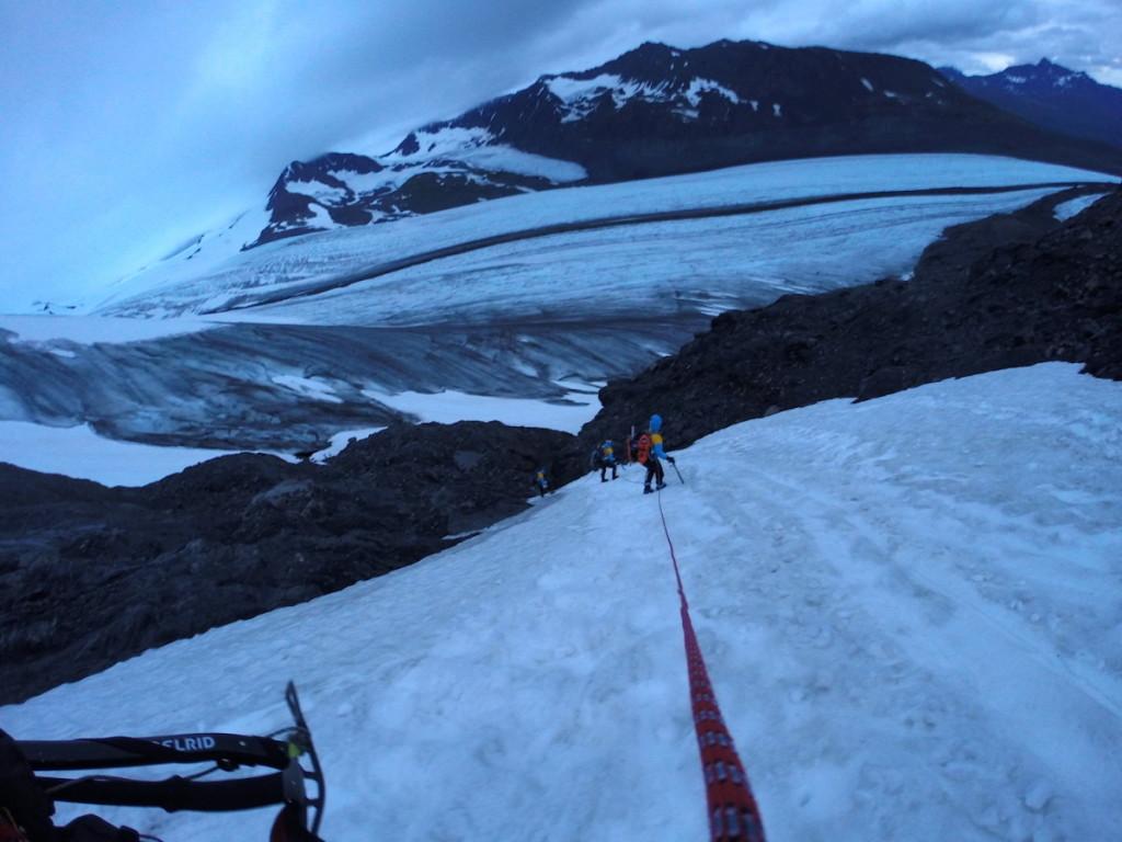 Natt på glaciären.