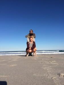 Fint häng på stranden med Moa och Klara