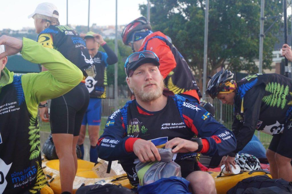 Fokuserad Mädz innan start.